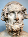 Marble terminal bust of Homer.