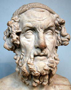 Homer, in a 5th century BC bust