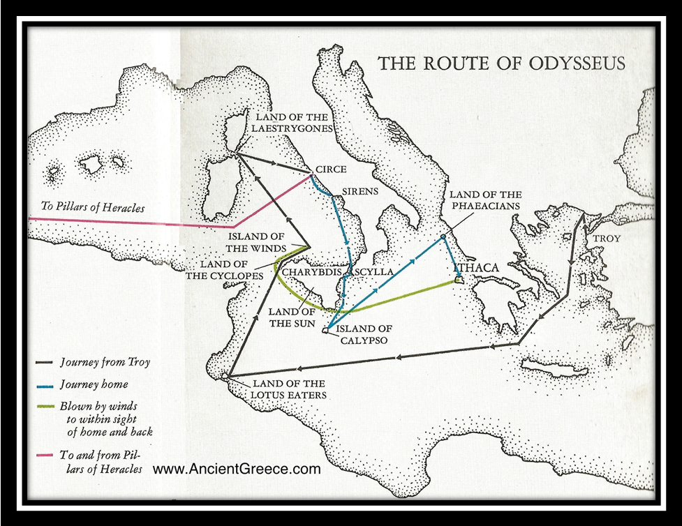 map of odysseus