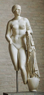 So-called Venus Braschi, type of the Knidian Aphrodite, Munich Glyptothek