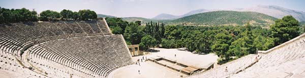 Panoramic View Of The Greek Theatre At Epidaurus