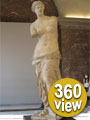 Statue of Aphrodite, Louvre Museum Paris. - 360 Degree View.